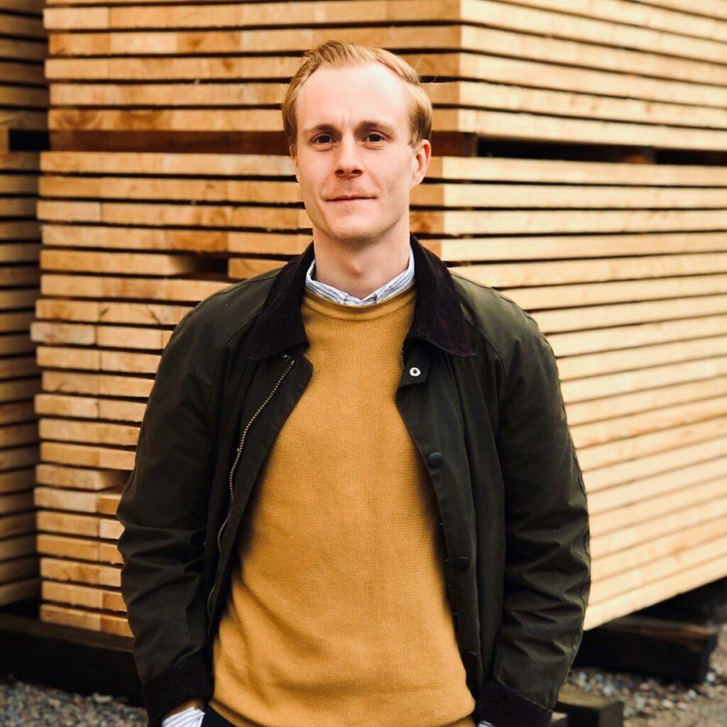 Oskar Joelsson på Bjernareds Sågverk
